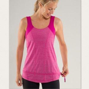 Lululemon Fuchsia Run for your life sport bra tank